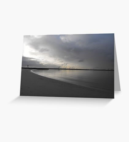 Silver Water Greeting Card