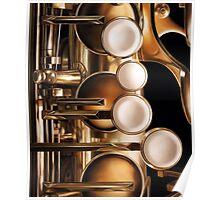 Four Keys, Saxophone Painting Poster