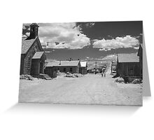 Bodie A Ghost Town - infrared Greeting Card