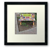 """""""Power of KINDNESS"""" - Tiled Bench Framed Print"""