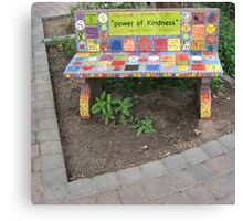 """""""Power of KINDNESS"""" - Tiled Bench Canvas Print"""