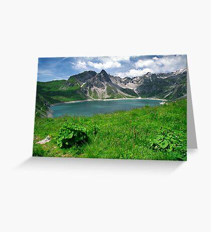 Lünersee, Austria Greeting Card