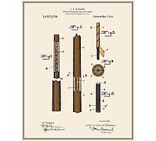 Pool Cue Patent - Colour Photographic Print