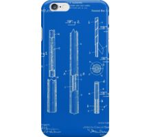 Pool Cue Patent - Blueprint iPhone Case/Skin
