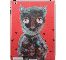 Cat With Big Red Eyes iPad Case/Skin