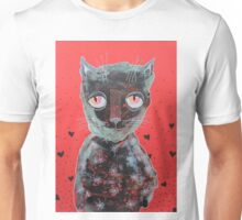 Cat With Big Red Eyes Unisex T-Shirt