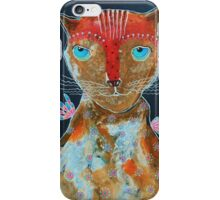 Cat With Green Blue Eyes iPhone Case/Skin