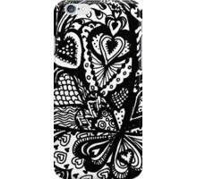 Hearts in a Square Aussie Tangle - see description re colour options iPhone Case/Skin