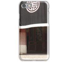 monk and Tibetan temple iPhone Case/Skin