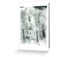 trees in hoarfrost Greeting Card