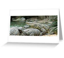 Croc-o-pile Greeting Card