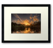 Sunset at Appletree Cottage, Adelaide Hills Framed Print