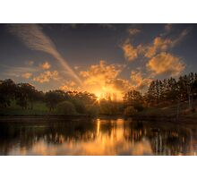 Sunset at Appletree Cottage, Adelaide Hills Photographic Print