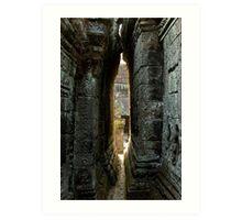 Angkor ruins Art Print