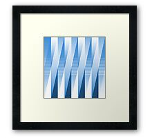 Layered Blue Tones Framed Print