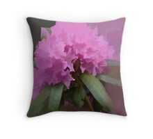 abstract of Pink Rhodedendrun for all RBers Throw Pillow