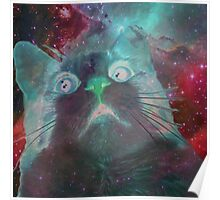 Space Galaxy Ghost Cat Thing Poster