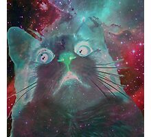 Space Galaxy Ghost Cat Thing Photographic Print