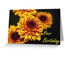 Greeting Card: Happy Birthday, Flowers Greeting Card