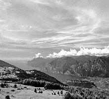 Lago di Garda, view from Monte Stivo, Italy by Lenka