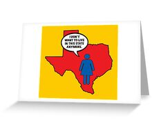 Texas vs Women Greeting Card