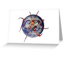 toxic earth Greeting Card