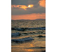 Sunset ocean Photographic Print