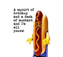 A squirt of ketchup and a dash of mustard..... by Tim Constable
