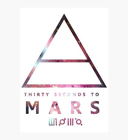 30 Seconds To Mars Universal Photographic Print
