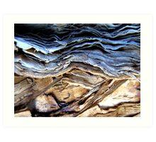 Brown earth...stormy skies.... Art Print