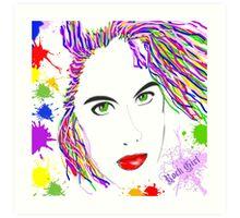 Rock Girl Art Print