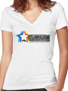 CMYK Republic Women's Fitted V-Neck T-Shirt
