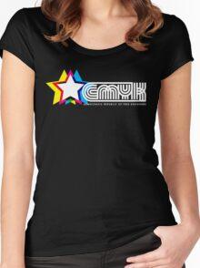 CMYK Republic (Dark) Women's Fitted Scoop T-Shirt