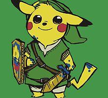link pikachu by hazyceltics