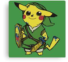 link pikachu Canvas Print