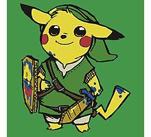 link pikachu Photographic Print