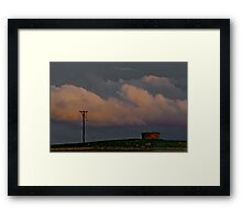 A Pole and a Watertank Framed Print
