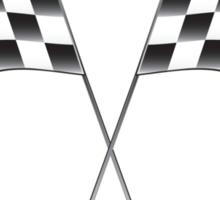 race flags Sticker