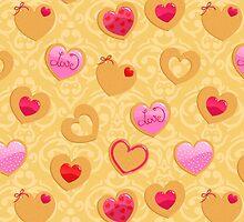 Valentine's day heart shaped cookies by alenarozova