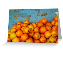 Naranjas Greeting Card