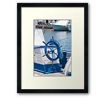 sailor wheel Framed Print