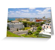 old san juan Greeting Card