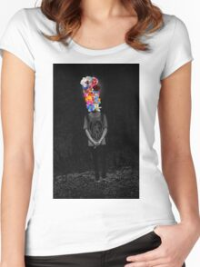 Black Bouquet Women's Fitted Scoop T-Shirt