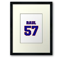 National baseball player Raul Casanova jersey 57 Framed Print