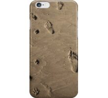 dog and best friend sand prints iPhone Case/Skin
