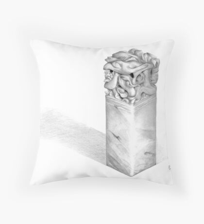 Square Hanko Throw Pillow