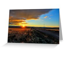 Polychromatic Prairie Greeting Card