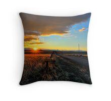 Polychromatic Prairie Throw Pillow