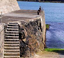 Port Nis Harbour Steps by lezvee