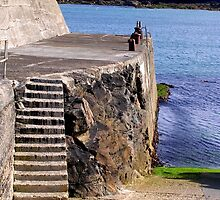 Port Nis Harbour Steps by lezvee